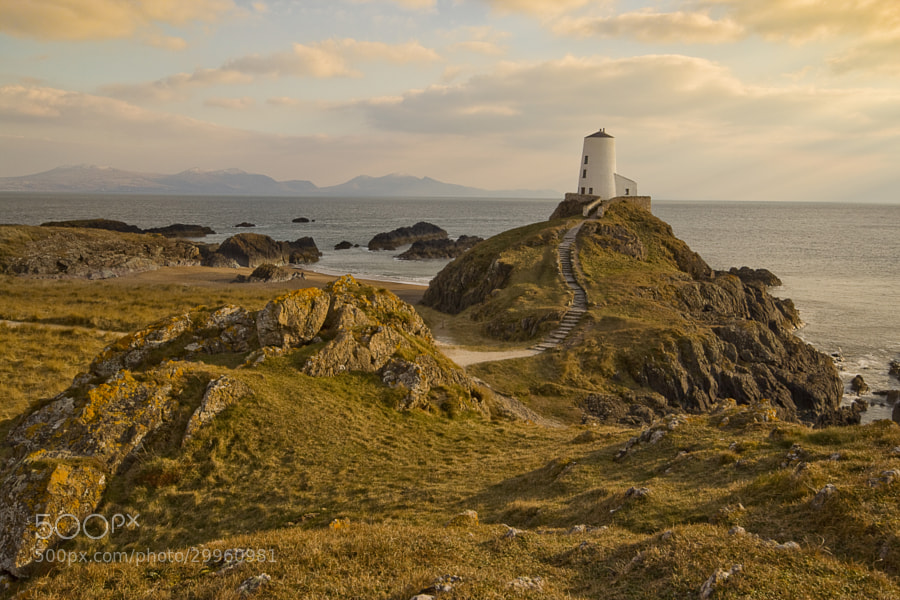 Twr Mawr Lighthouse, Llanddwyn Island, Anglesey, Wales.