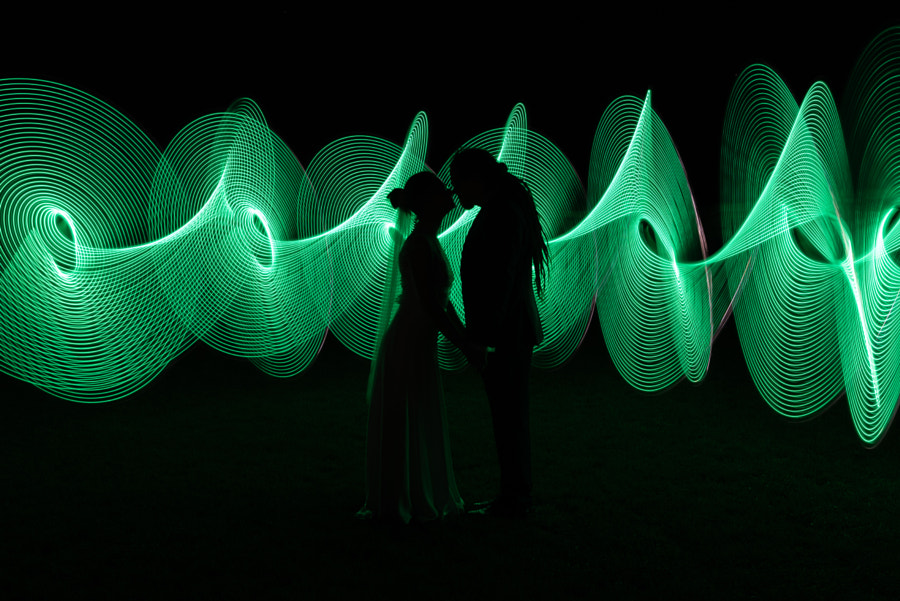 Wedding light paint by Dénes Mészáros on 500px.com