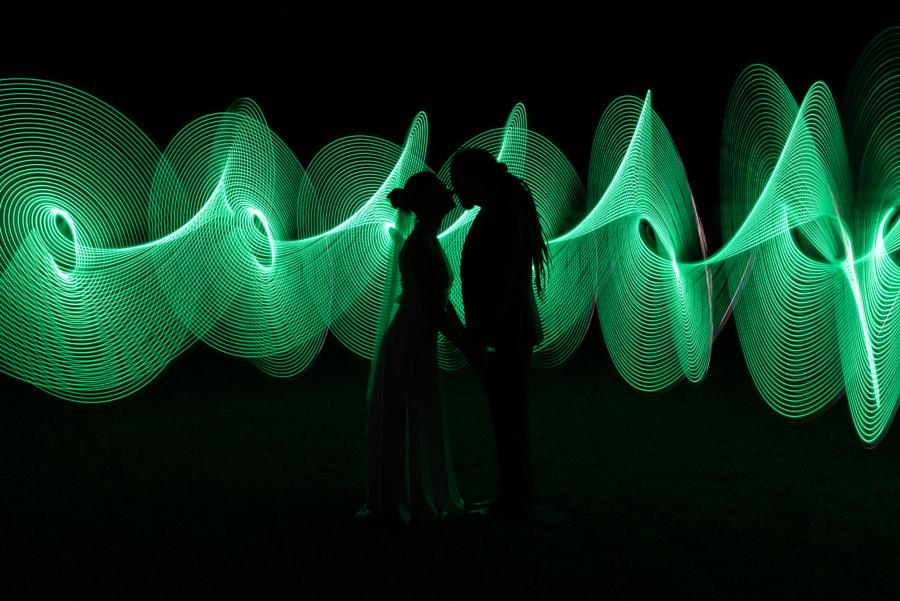 Wedding light paint by Dénes Mészáros on 500px.com