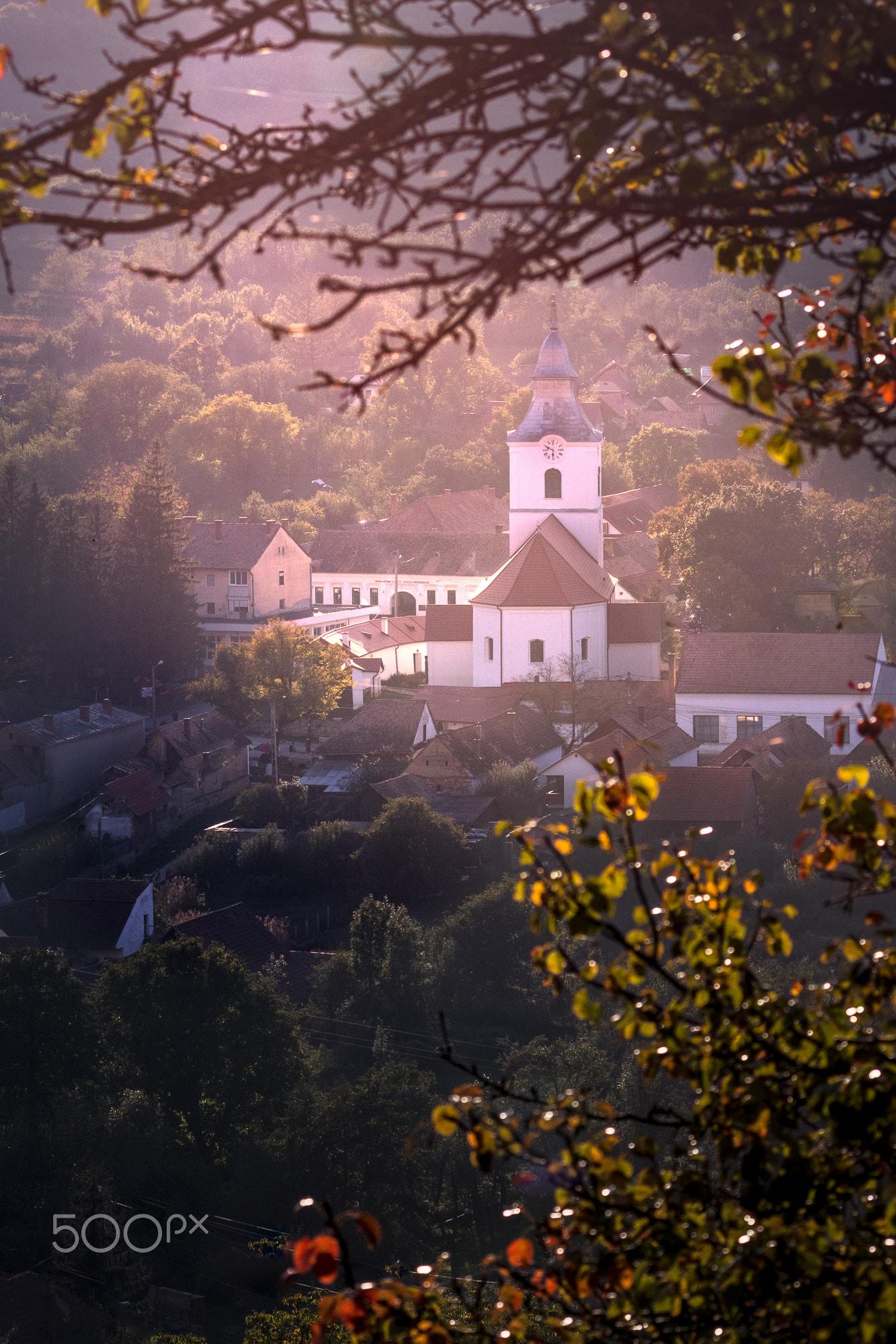 Landscape of UNESCO Rimetea Uniterian Church