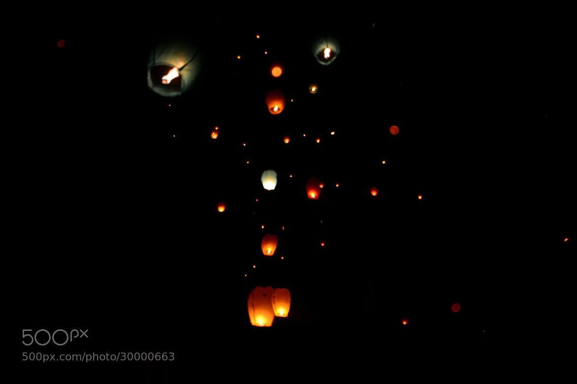 Photograph The Flight of Sky Lanterns by Kristine Victoria on 500px