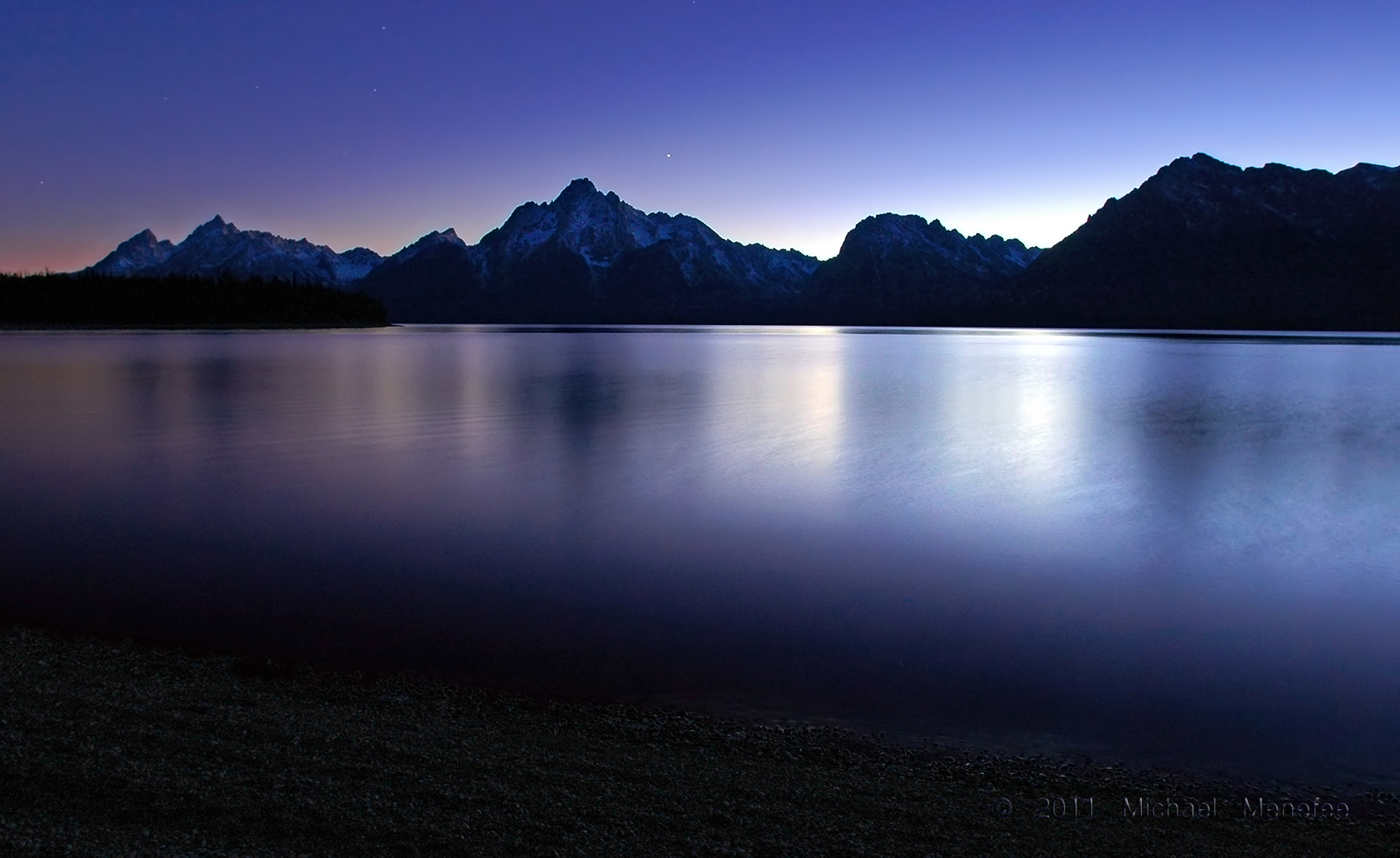 Photograph Last Twilight Jackson Lake, Grand Teton National Park, Wyoming by Michael Menefee on 500px