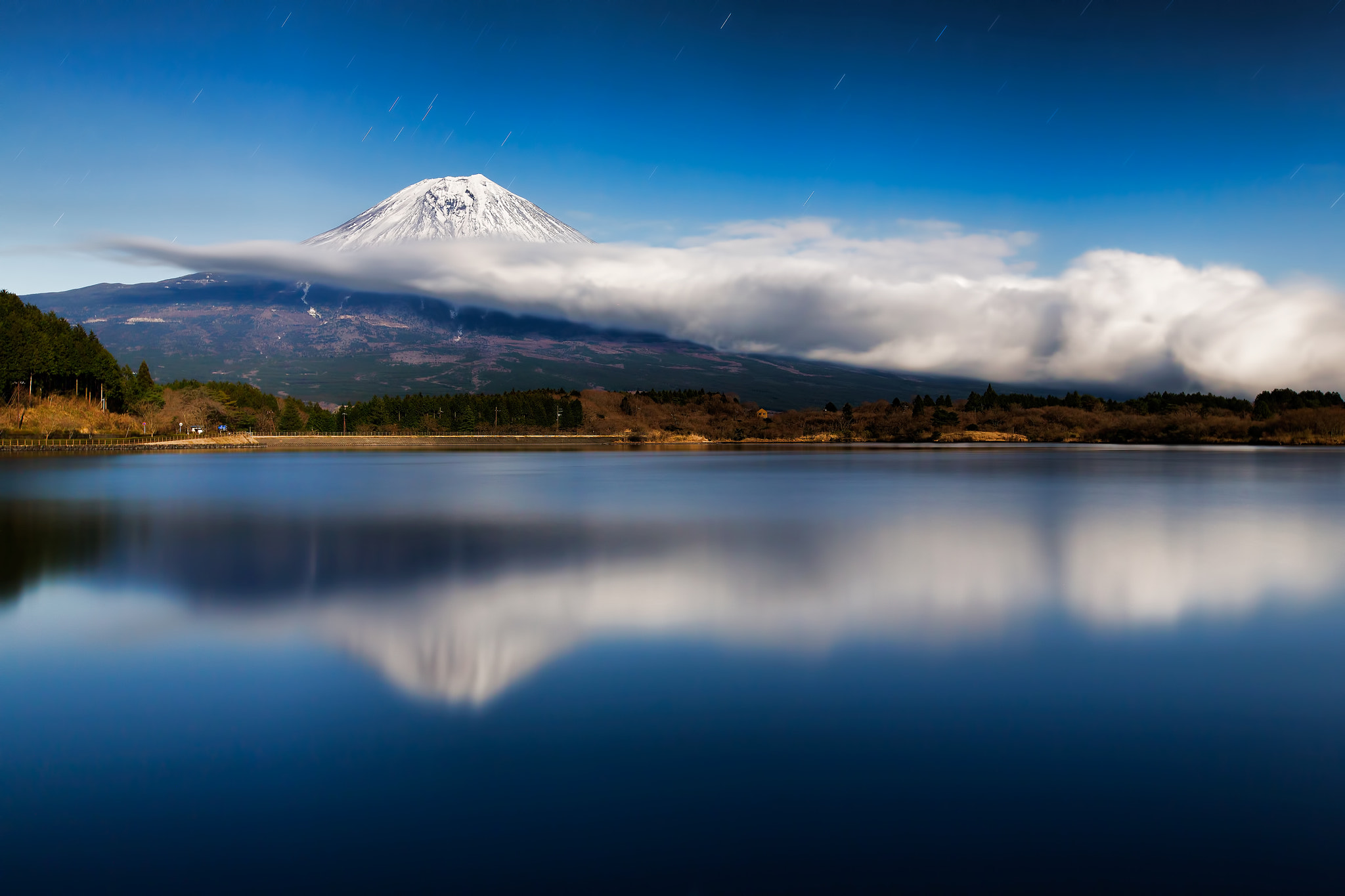 Photograph Mt.Fuji and cloud in the night by MIYAMOTO Y on 500px