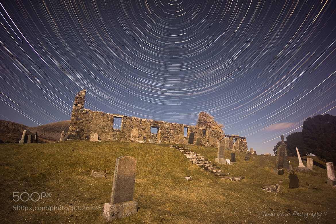 Photograph Cill Chriosd Church Star Trails by James Grant on 500px
