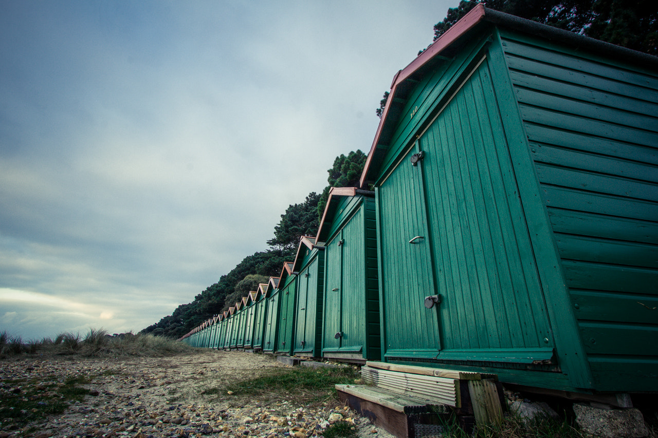 Photograph Beach huts by Damian Rees on 500px