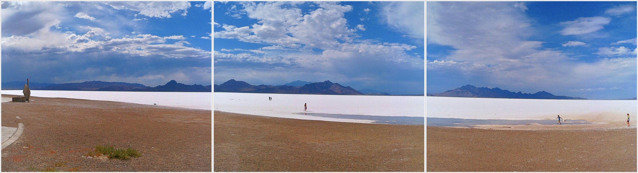 Photograph Triptych of Bonneville Salt Flats by Nancy Andersen on 500px