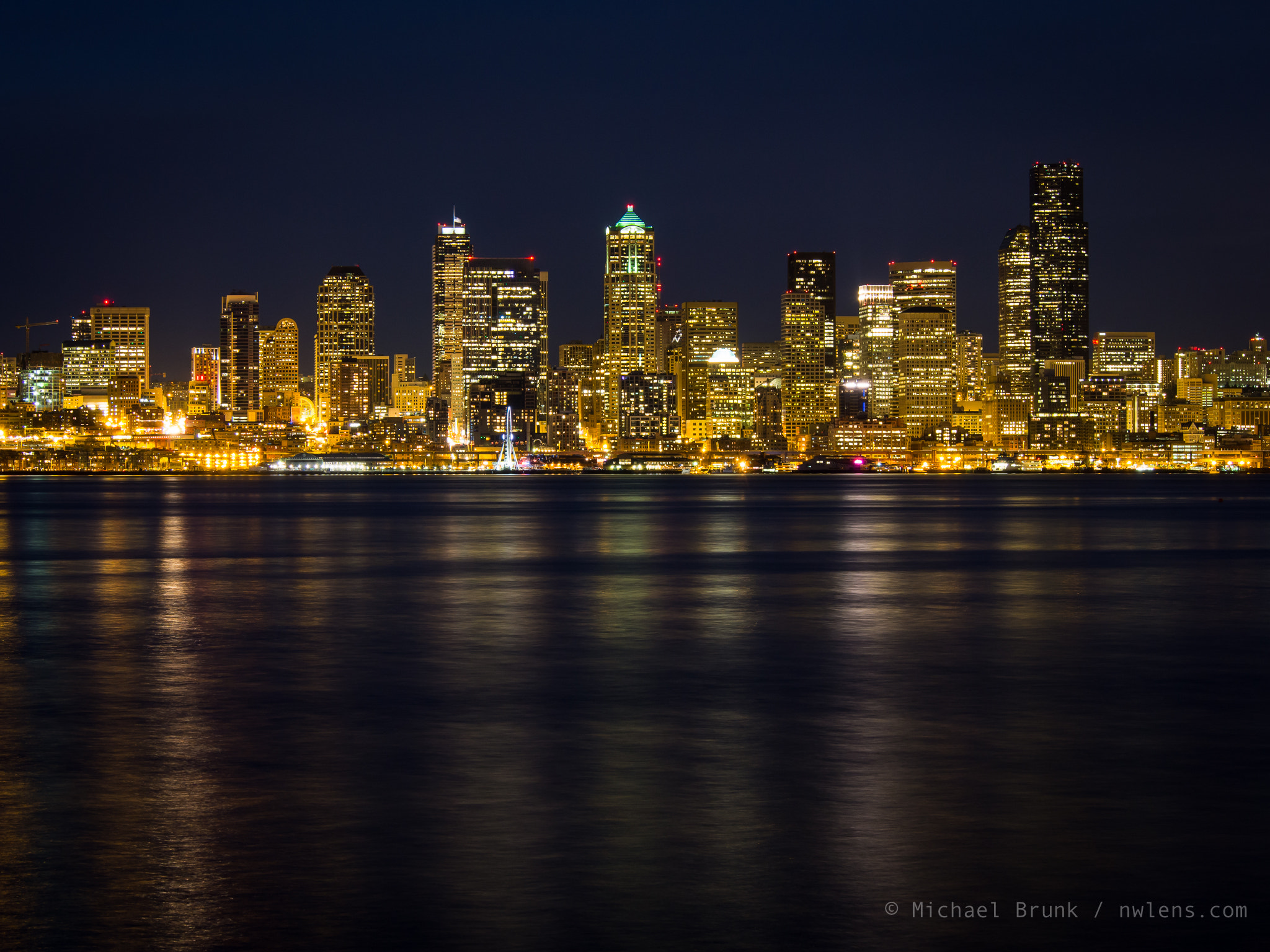 Photograph Seattle @ Night by Michael Brunk on 500px