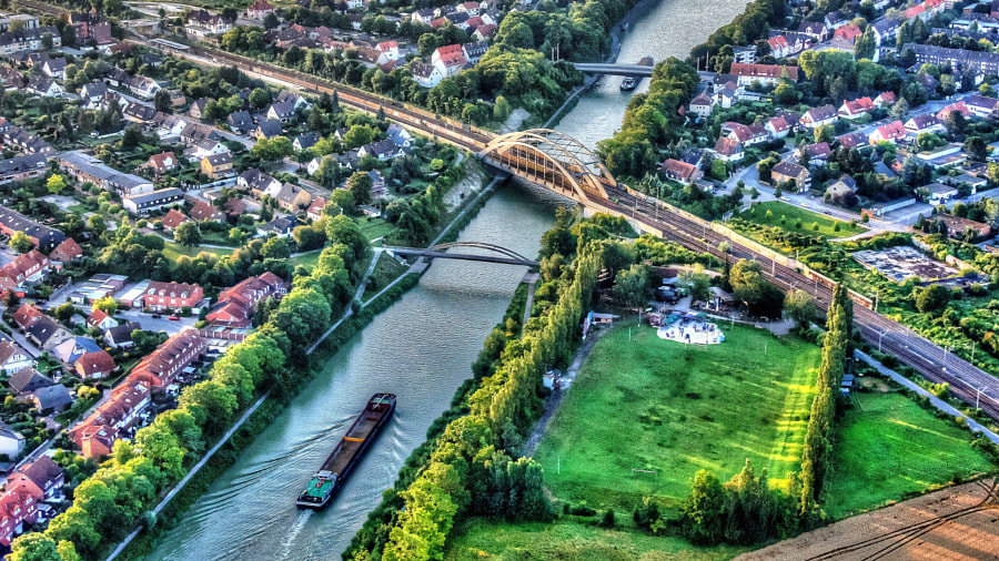 The Midland Canal from above by Roland Krause on 500px.com