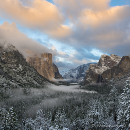Sunset/Snow, Yosemite Valley, California