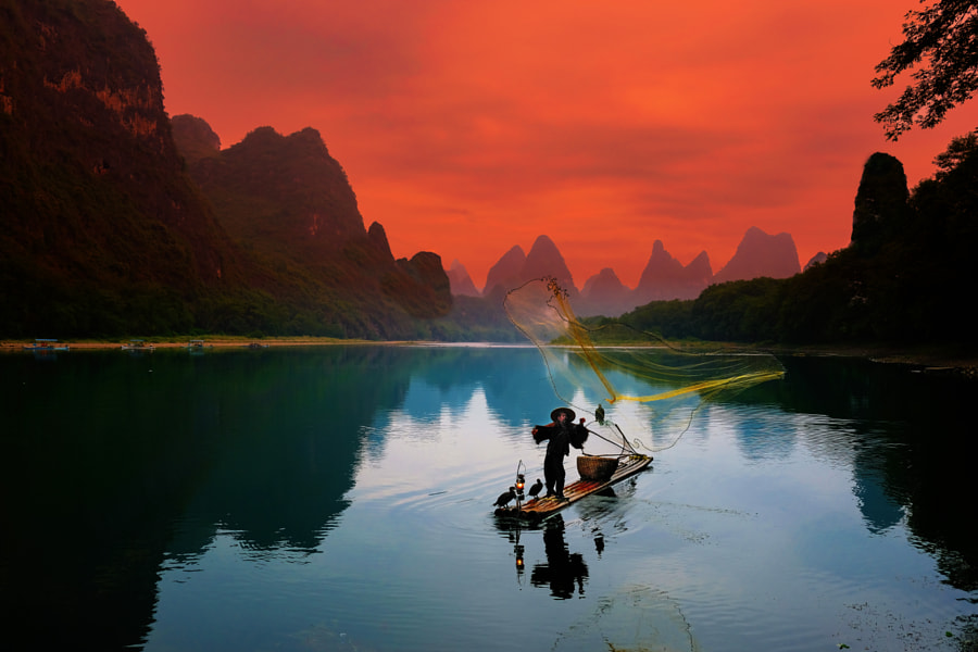 Cormorant fisherman at the Li river by Stefan Schnöpf on 500px.com
