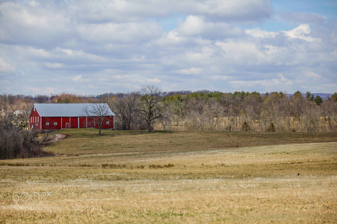 Photograph Red Barn Landscape by Christopher Bower on 500px