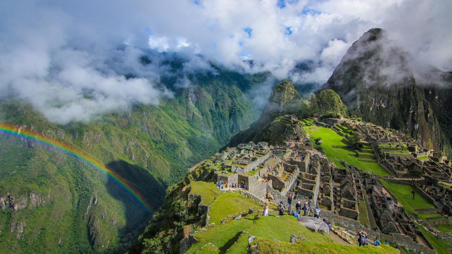 Rainbow at Machu Picchu by sam wirch on 500px.com
