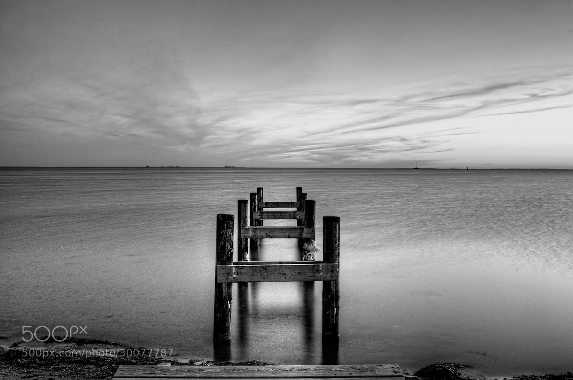 Photograph The Jetty - not ready - b/w by Kim Schou on 500px