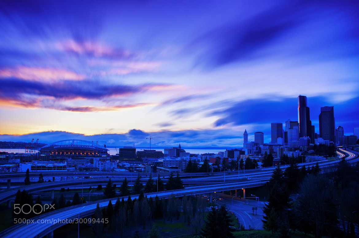 Photograph Seattle Blues by Dan Goldberger on 500px