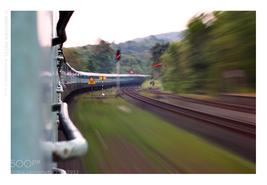 Photograph Freedom over comfort | Konkan railway lines by Abhishek Patel on 500px