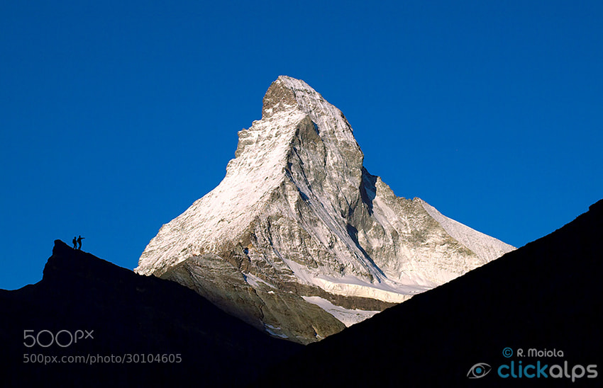 Photograph The Matterhorn Silhouette by Roberto Sysa Moiola on 500px