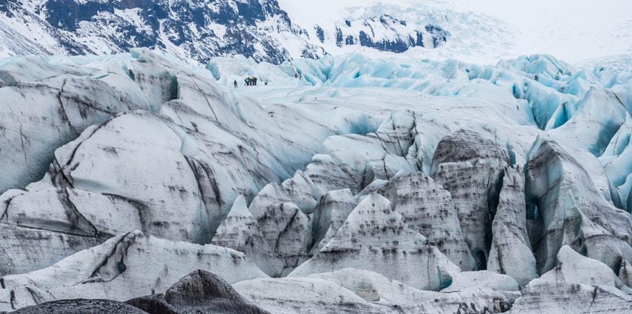 Skaftafellsjökull and his climbers- Iceland by Dirk Van Geel on 500px.com