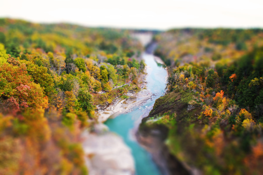 Letchworth State Park tilt-shift by Zulhilmi Zamri on 500px.com