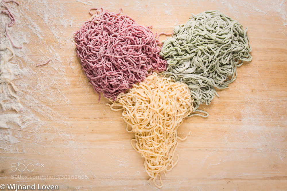 Photograph Heart shaped homemade pastas by Wijnand Loven on 500px