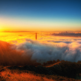 invasion of fog | Golden Gate