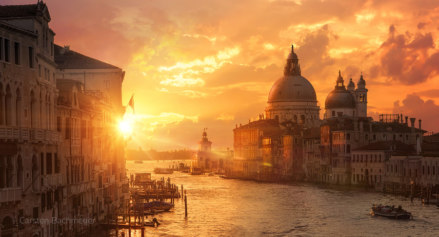 Sunrise over grande canal by carsten bachmeyer on 500px.com