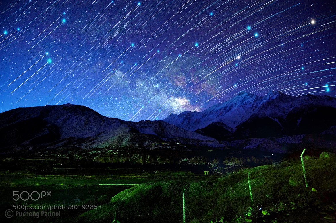 Photograph Milky way and Star trails by Puchong Pannoi on 500px