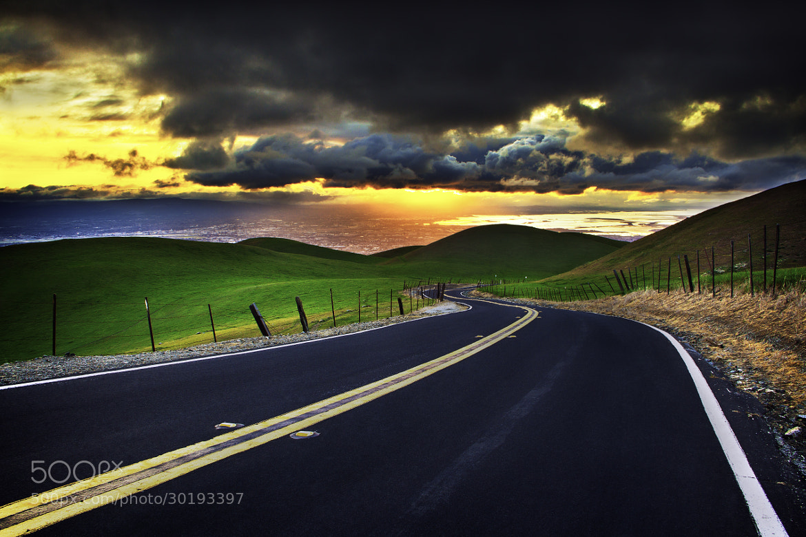 Photograph Road to Sunset by Alister C. on 500px