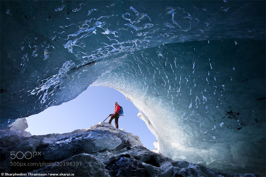 Photograph Exploring Ice Caves in Iceland by Skarpi Thrainsson on 500px