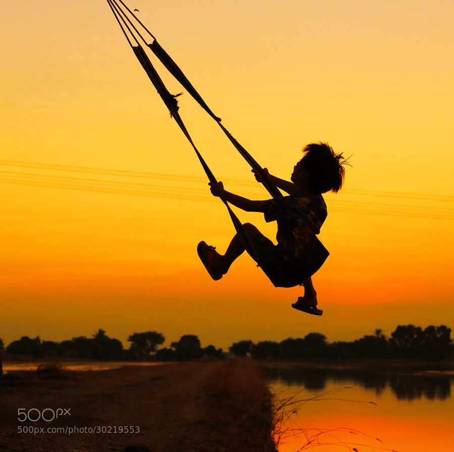 Photograph swing after sunset by Prachit Punyapor on 500px