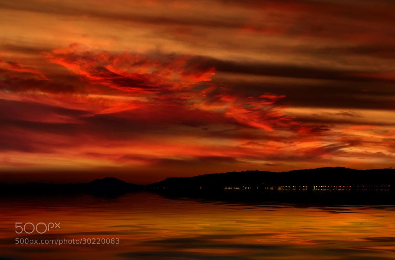 Photograph Red sunset (Manilva-Malaga) by yara GB on 500px