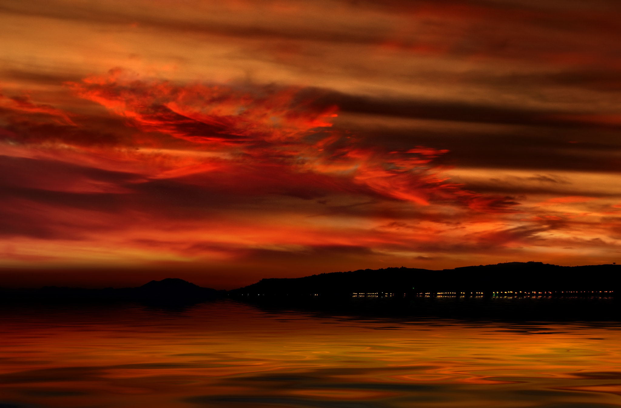 Photograph Red sunset (Manilva-Malaga) by yara GB on 500px