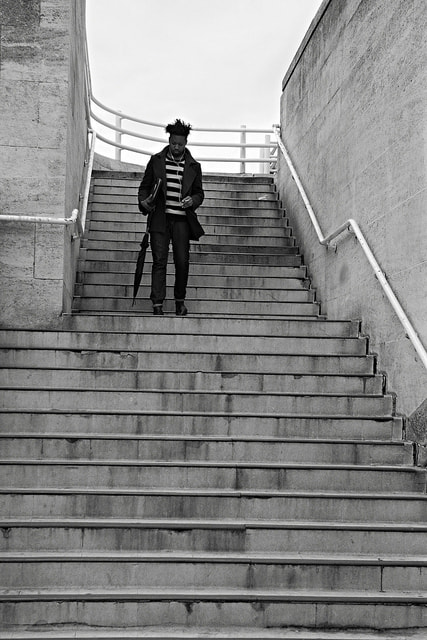 Photograph stairway down by Linda Wisdom on 500px