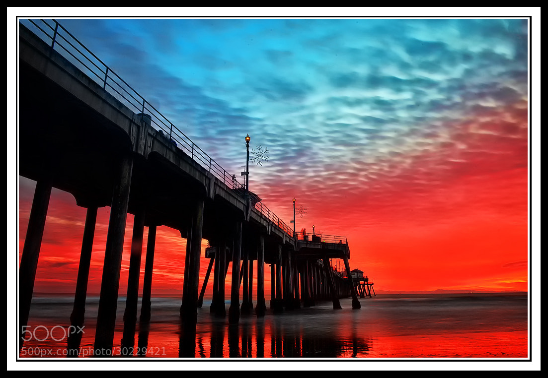 Photograph Blue and Red Sunset by Peter Dang on 500px