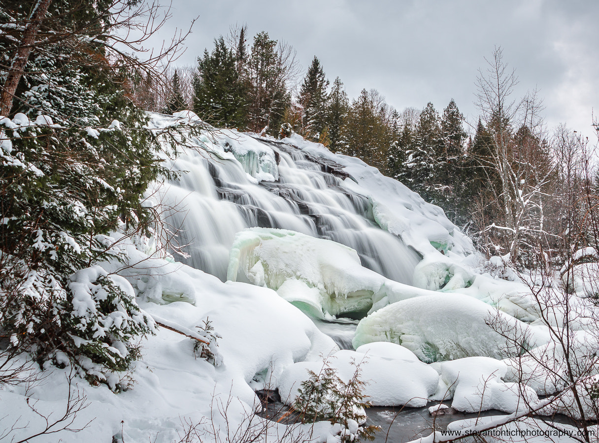Photograph Bond Falls in Winter by Stevan Tontich on 500px