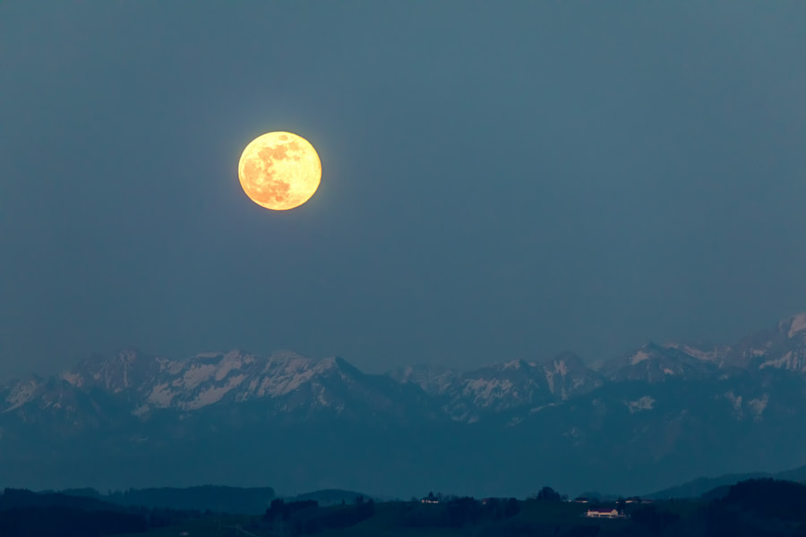 Full Moon over the Alps by Thomas Hoppe on 500px.com