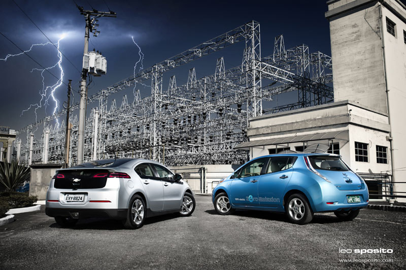 Photograph Chevrolet Volt vs. Nissan Leaf by Leo Sposito on 500px