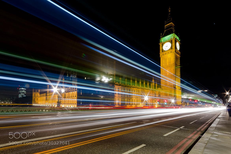 Photograph Big Ben Traffic Trails by Tony Jones on 500px