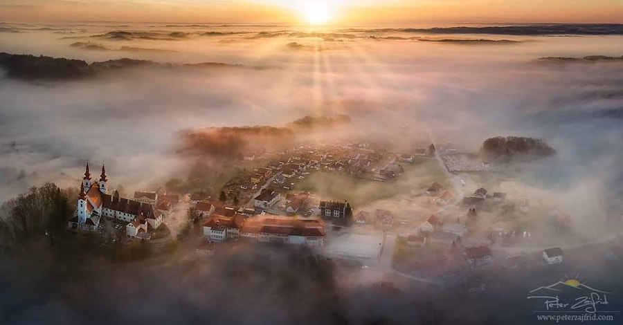 Foggy panorama by Peter Zajfrid - a No.1from shop.vanechow.com
