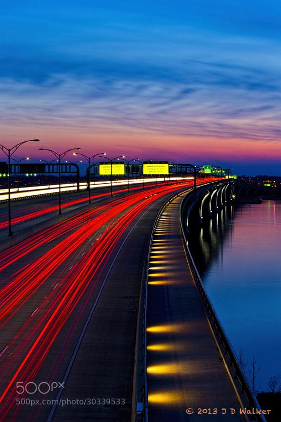 The wilson Bridge at sunset looking toward Virginai.