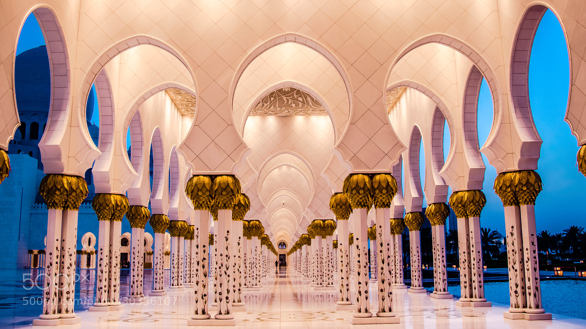 Photograph Pillars of the Earth - The Grand Mosque, Abu Dhabi by julian john on 500px