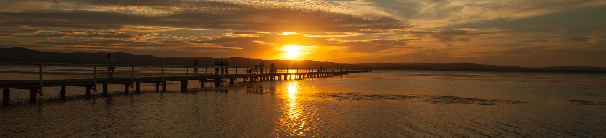 Photograph Sunset at Long Jetty, The Entrance by Howard Tang on 500px