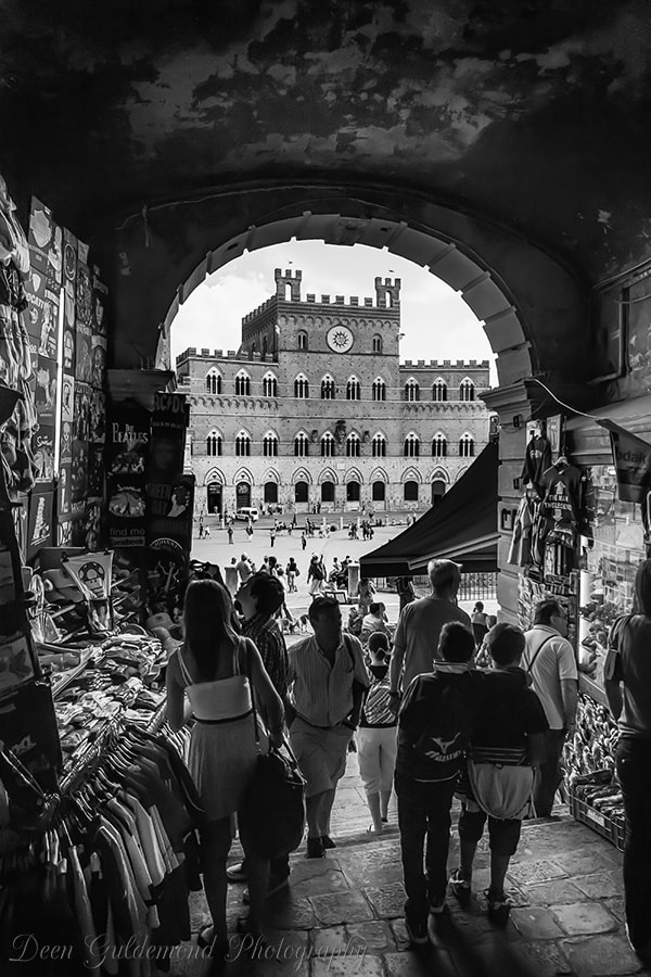 Photograph Entrance to the Piazza del Campo by Deen Guldemond on 500px