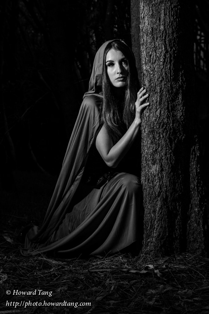 Photograph Red Riding Hood B&W by Howard Tang on 500px
