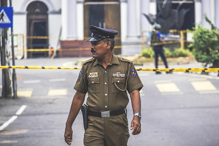 Policeman, St Anthony's Shrine, Kochchikade, Sri Lanka #2 by Son of the Morning Light on 500px.com
