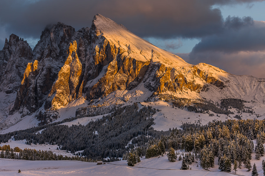 """<a href=""""http://www.hanskrusephotography.com/Workshops/Dolomites-October-7-11-2013/24503434_Pqw9qb#!i=2444742534&k=Kggmcdn&lb=1&s=A"""">See a larger version here</a>  This photo was taken during a photo workshop that I was leading in the western part of the Dolomites in October 2011."""
