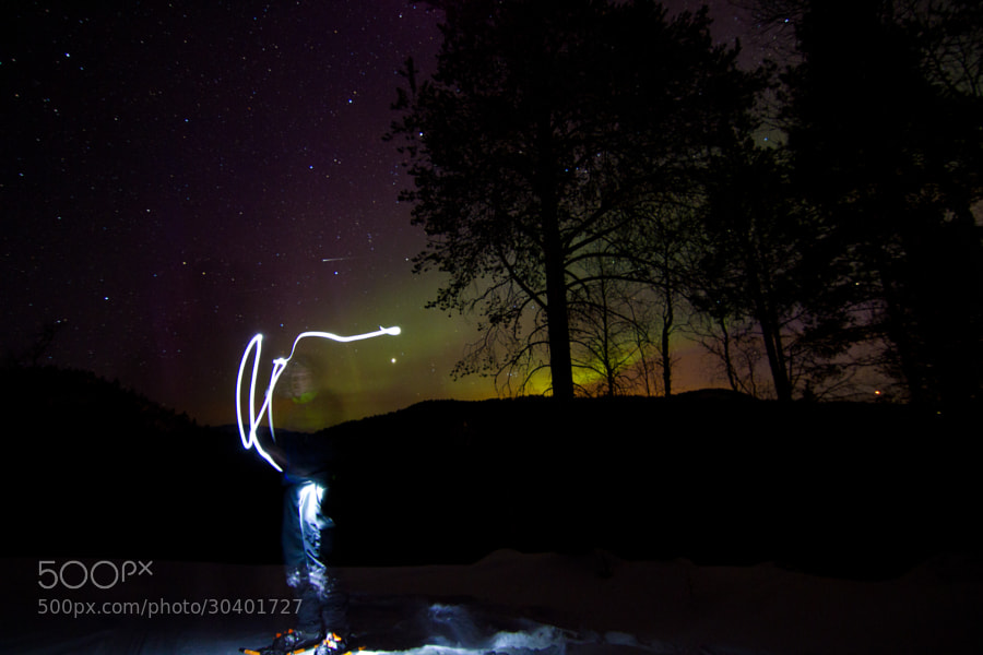 Aurora - Russånes, Saltdal, Norway - Lightpainting