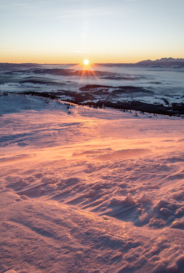 Snow, wind, sunrise by Marcin Sz - a No.1from shop.vanechow.com