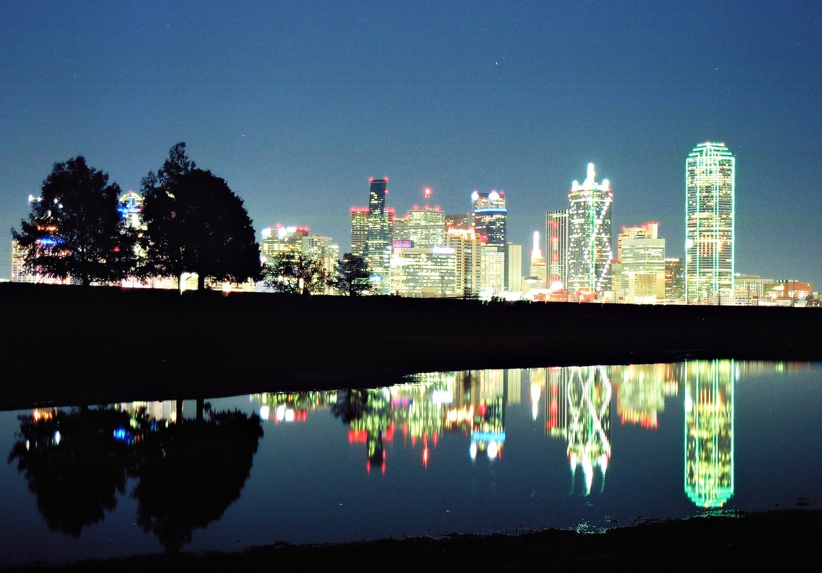 Photograph Dallas at Night on Film by Kevin Kretschmar on 500px