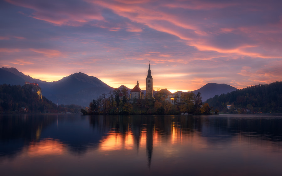 A Burning Morning in Slovenia by Daniel Fleischhacker on 500px.com