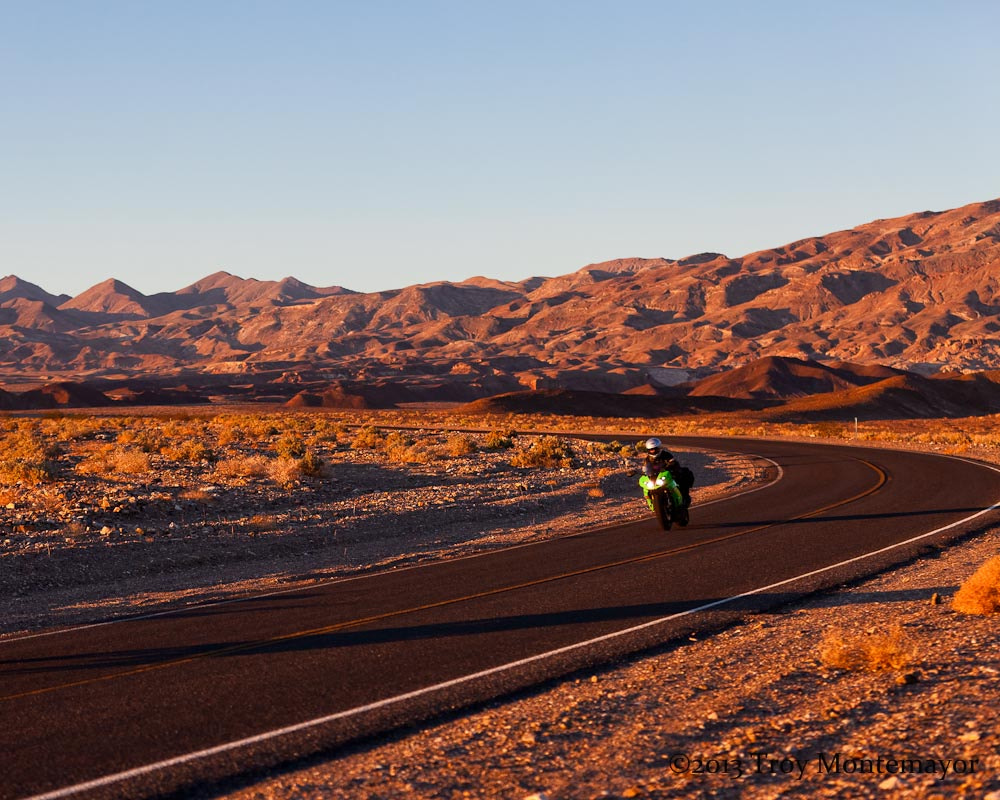 Photograph Motorcycle Rider, Beatty Cutoff, Death Valley by Troy Montemayor on 500px